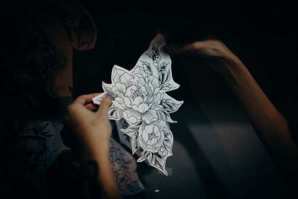 Flower tattoo final sketch
